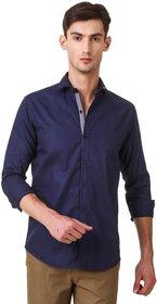 Audbury Dark Blue Button Down Full sleeves Men Casual shirts