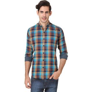 Audbury Blue Button Down Full sleeves Men Casual shirts