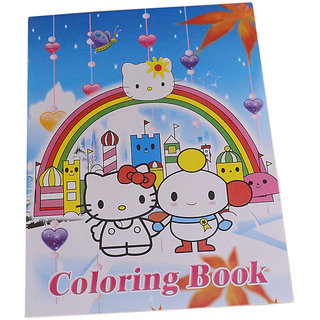 Hello Kitty Coloring Art Book With Stickers SI-2005