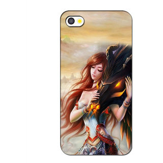 Instyler 3D Digital Printed Back Cover For Apple Iphone 5