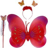 Aarika Red Party Wear Butterfly Wings