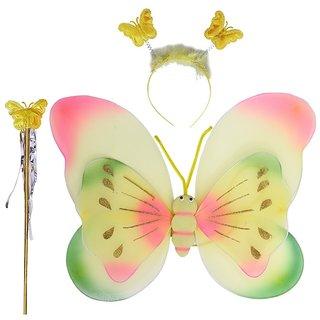 Aarika Yellow Party Wear Butterfly Wings