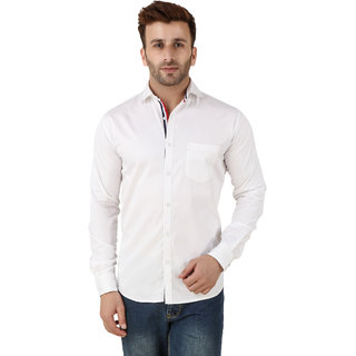 Audbury White Button Down Full sleeves Men Casual shirts