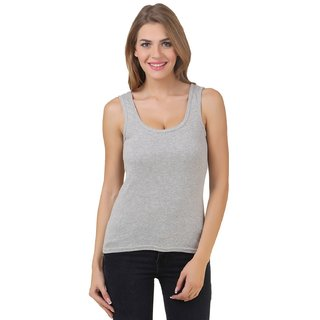 Friskers Grey Cotton Tank top
