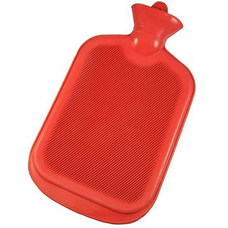 Rubber Hot Water Bottle Bag Warm Relaxing Heat Cold Therapy