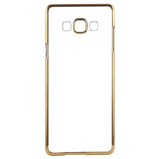 Golden Chrome TPU Back Cover for Reliance Jio LYF Wind 3