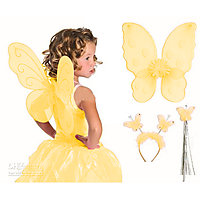 Aarika YELLOW Butterfly Wings For Girls