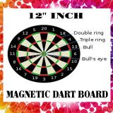 4 Darts 12 Inch Magnetic Dart Board Two Sided