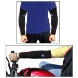 Pair Of Stylish Biking Sports Arm Sleeves For Uv Sunrays Summer Protection Black