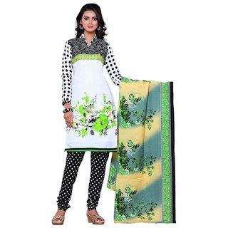Khushi Trendz Cotton Green Unstitched Salwar Suit