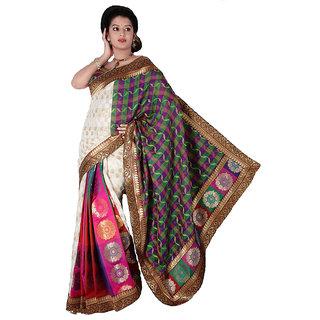 Multicoloured Banarasi Silk Saree