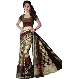 Black Border Kora Silk Saree