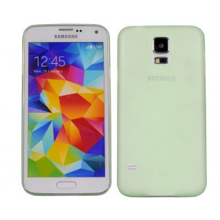 Cubix Translucent Series 0.3 MM Ultra Thin Matte Case Back Cover for Samsung Galaxy S5 (SM-G900I) (Green)