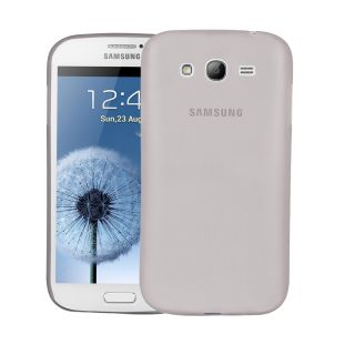 Samsung galaxy Grand Duos (i9082) Case  Cubix Translucent Series 0.3 MM Ultra Thin Matte Case Back Cover for Samsung galaxy Grand Duos (i9082) (Grey)