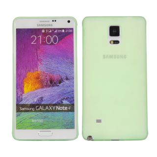 Cubix Translucent Series 0.3 MM Ultra Thin Matte Case Back Cover for Samsung Galaxy Note 4 (Green)