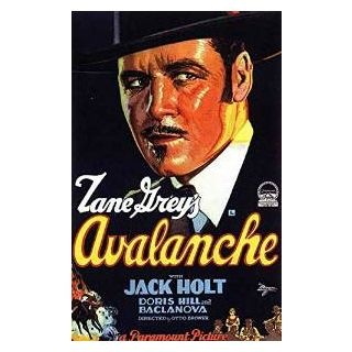Reproduction of a poster presenting - Avalanche 1928