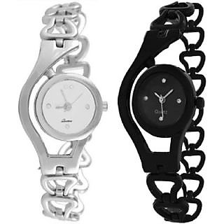 BLACK SILVER CHAIN COMBO BEST GIFT EVER Analog Watch - For Girls, Women 7 Star