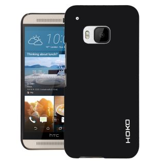 HOKO Feather Series Ultra Thin Matte Hard Case Back Cover for HTC ONE M9 (Black)