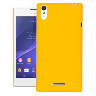 CUBIX Ultra Thin Rubberized Matte Hard Case Back Cover for SONY XPERIA T3 (Yellow)