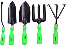 Visko Green Handle 603 5 Pc Garden Tool Kit