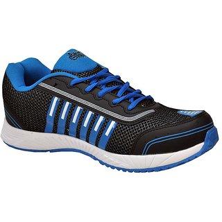 Allen Cooper Men'S Black  Blue Running Shoes