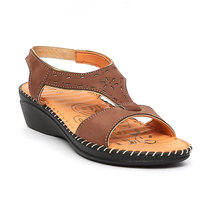 Tanny Shoes Women Brown Colour Medicated Leather Sandal