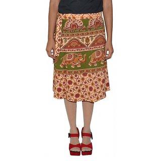 Gurukripa Shopee Printed Women's Wrap Around Skirts GSKWCK-A0298