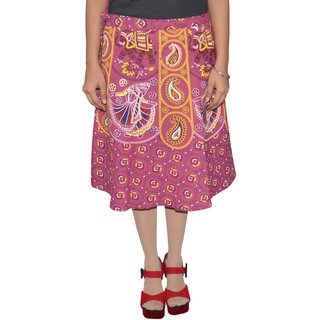Gurukripa Shopee Printed Women's Wrap Around Skirts GSKWCK-A0298