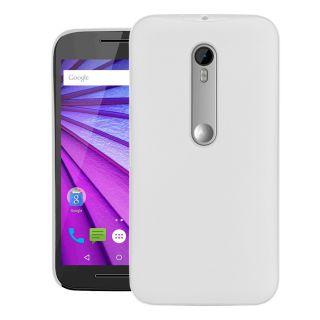 Motorola Moto G Turbo Edition Case Cover  Cubix Translucent Series 0.3 MM Ultra Thin Matte Case Back Cover for Motorola Moto G Turbo Edition (White)