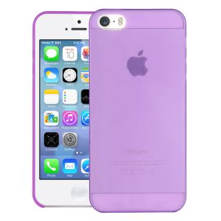 Cubix Translucent Series 0.3 MM Ultra Thin Matte Case Back Cover for Apple iPhone SE (Purple)