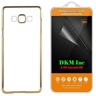Golden Chrome TPU Cover for Reliance Jio LYF Wind 6 with 25D HD Tempered Glass