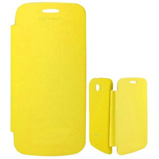 micromax canvas 2 A110 Yellow Flip Cover
