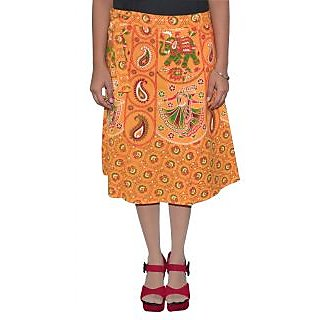 Gurukripa Shopee Printed Women's Wrap Around Skirts GSKWCK-A0304