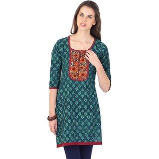 Sanchaya Casual Solid Women's Kurti (Green)