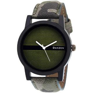 Danzen Quartz Analog Green Round Dial Men's Watch DZ-442