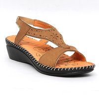Tanny Shoes Women Tan Colour Medicated Leather Sandal