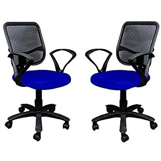 Mavi Beautiful Blue Office Chair Set Of 2 ( DMB- 112 )