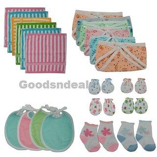 24 Pcs Newborn Baby Infant Girl Boy Cotton Cloth