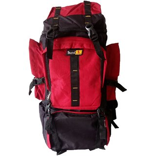 Skyline Red Hiking/Trekking/Travelling/Camping Backpack Bag Rucksack Unisex Bag With Warranty-2406