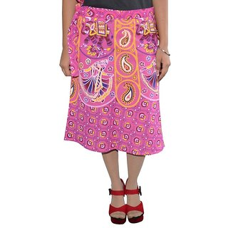 Gurukripa ShopeePrinted Women's Wrap Around Skirts GKSWCK-A0301