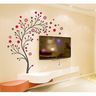 'Beautiful Magic Tree with Flowers' Wall Sticker