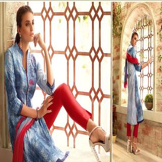 creation Women's Cotton Printed Unstitched Regular Wear Salwar Suit Dress Material