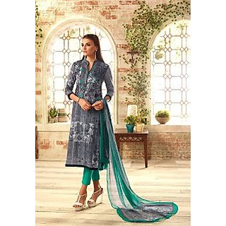 Fashion Women's Designer Party Wear Cotton Unstitched Patiala Salwar Kameez Suit Dress Materi