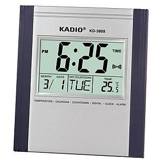 KADIO Branded Jumbo Digit Digital Wall clockTimerAlarmDateMonth