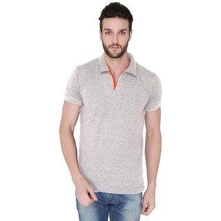 Joke Tees Solid Mens Polo TShirt Grey Milange