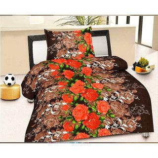 Factorywala Floral Single Blanket Brown (AC Dohar, 1 Blanket)