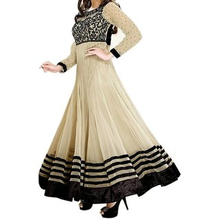 Kapadewala Chiku Embroidered Georgette Semi-stitched Salwar Suit