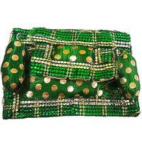 Beautifully Handmade Dark Green With Golden Dots Laddu
