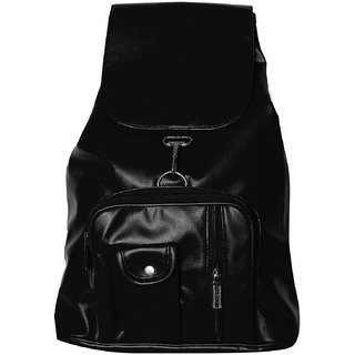 Swallow Black non leather Back Pack Bag (SL7)