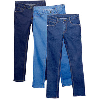 Indiweaves Men'S Slim Fit Jeans (Pack Of 3)